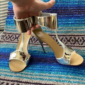 GIUSEPPE ZANOTTI Silver/Chrome Galactic Heels